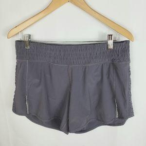 Lululemon Gray Shorts w/Side Ruching Sz 8